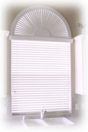 Painted Arch Over 2 inch Blinds