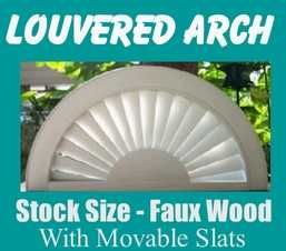 Faux Wood Louvered Arch