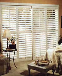 Sliding ByPass Shutters over Patio door