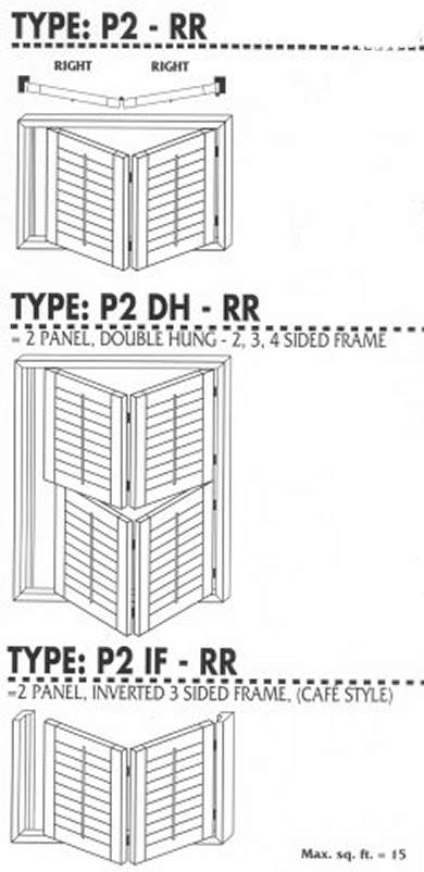 Right BiFold Shutter Pairs