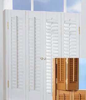 White or Oak Colors - Traditional Shutters